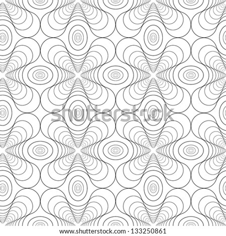 Abstract vector seamless black and white pattern with diminishing rounded crosses - stock vector