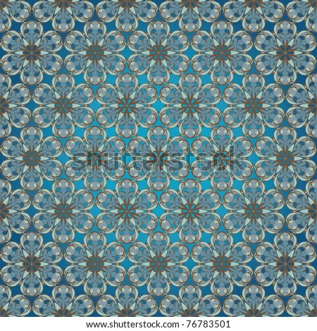 abstract vector seamless pattern, arabesque style