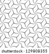 Abstract vector seamless pattern with black and white cube-shape figures - stock photo