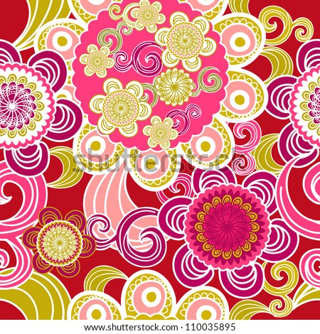 Abstract vector seamless pink texture with abstract pattern - stock vector