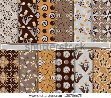 Abstract vector set of paper for scrapbook