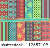 Abstract vector set of scrapbook paper - stock vector