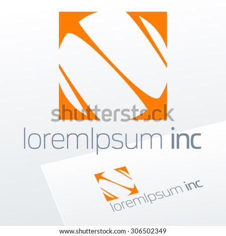 Abstract vector sign. Emblem for Business, Media, Corporation.