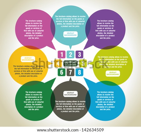 Abstract vector speech bubble. Modern Design Infographic Banner - stock vector