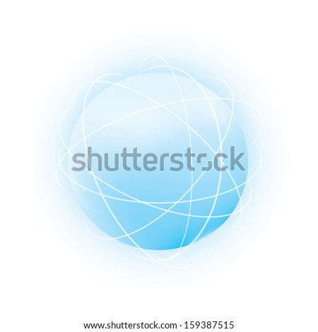 Abstract vector sphere. - stock vector