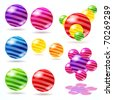 Abstract vector spheres. - stock photo