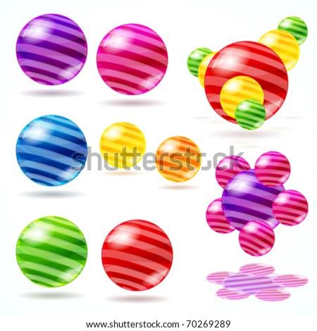 Abstract vector spheres. - stock vector