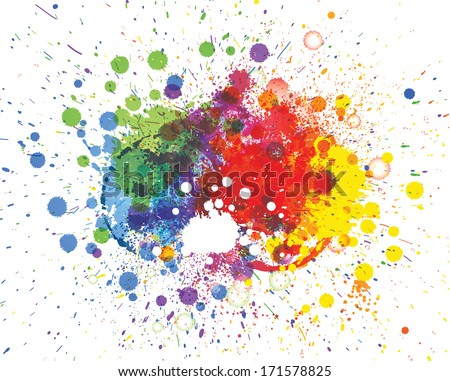 Abstract vector spots background illustration with place for your text - stock vector