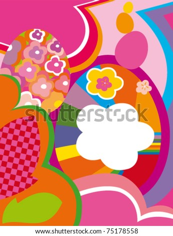 abstract vector spring and easter background - stock vector