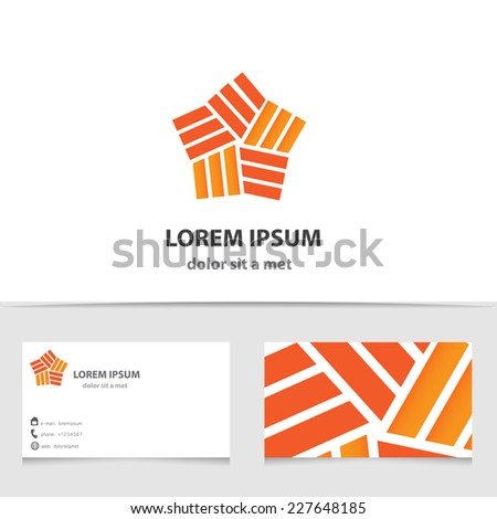 Abstract vector star logo isolated. Creative template business card - stock vector