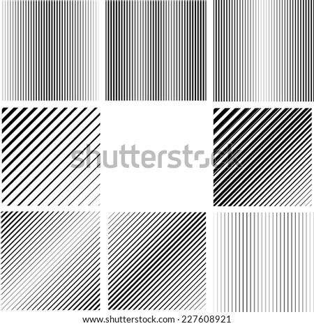 Abstract Vector Striped Background. Black and White Stripes Texture Collection . Wave Stripes . Vertical Curve   - stock vector