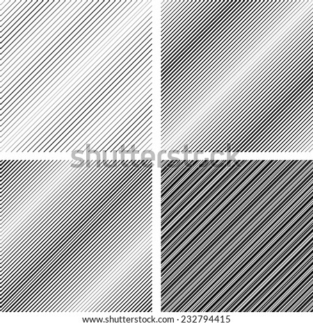 Abstract Vector Striped Seamless Pattern . Black and White Stripes . Diagonal Stripes . Diagonal Lines .  - stock vector