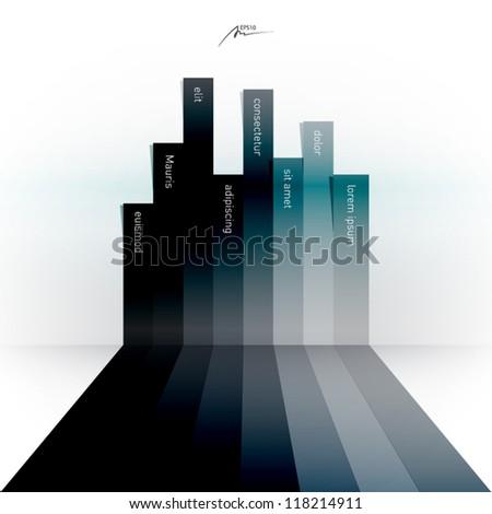 abstract vector stripes - design template - stock vector