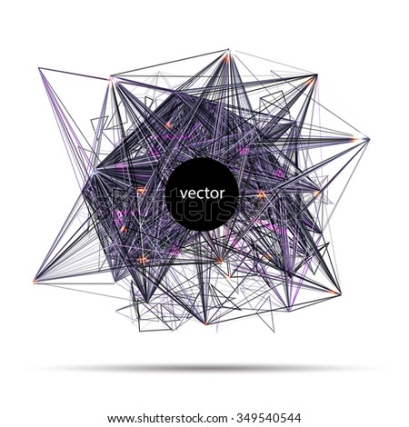 Abstract vector techno science banner invitation stock vector abstract vector techno science banner of invitation for electronic music party or science conference vector stopboris Images