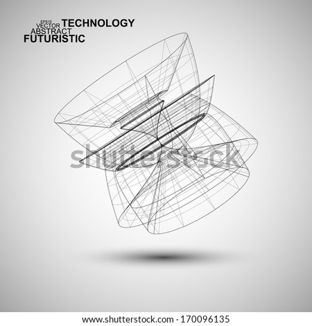 Abstract vector technology, technical stylish concept eps10 - stock vector
