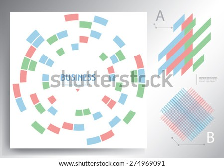 Abstract vector template design, brochure, web sites, with colorful geometric triangular background