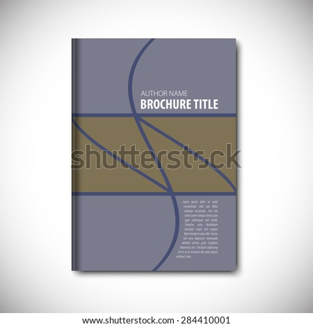 Abstract vector template layout for brochure, flyer, booklet, cover.Green color version. - stock vector