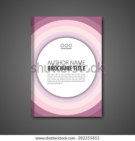 Abstract vector template layout for brochure, flyer, booklet, cover. Pink color version. - stock vector