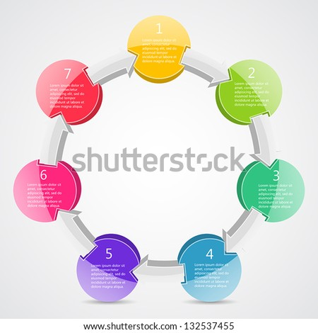 Abstract vector template to your presentation of business project - stock vector