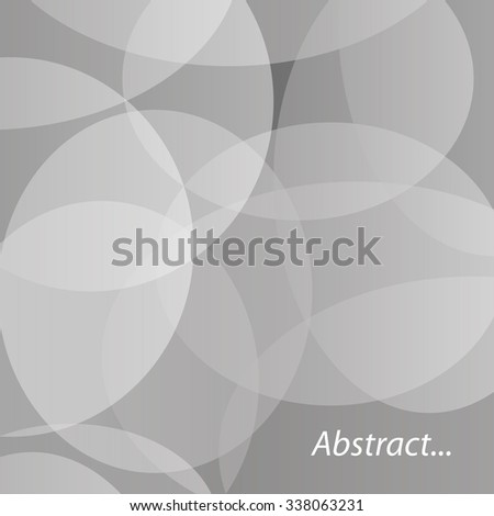 Abstract vector transparent circles. Vector background - stock vector