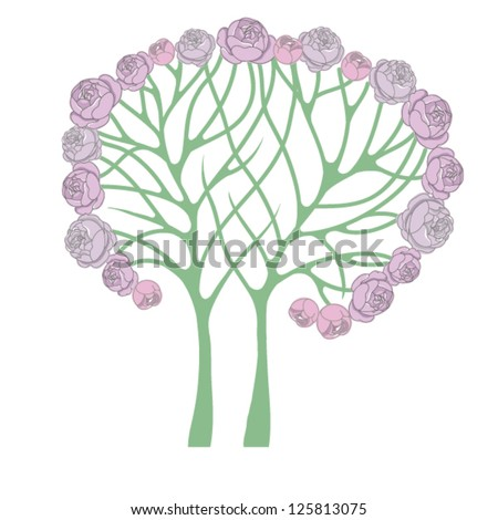 Abstract vector tree - stock vector