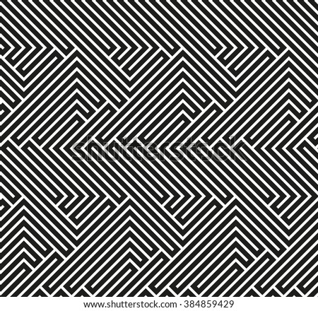 Abstract vector wallpaper with strips. Seamless colorful background. Black and white wallpaper