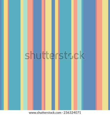 Abstract vector wallpaper with strips. Seamless colorful background with pastel colors - stock vector