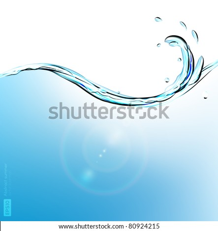 abstract vector water wave - stock vector