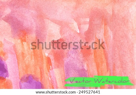 Abstract vector watercolor background - stock vector