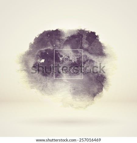 Abstract vector watercolor background. Sepia template. High quality design element - stock vector