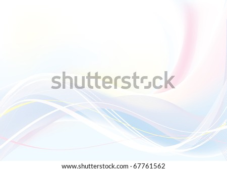 Abstract Vector Wave blue and pink color - stock vector