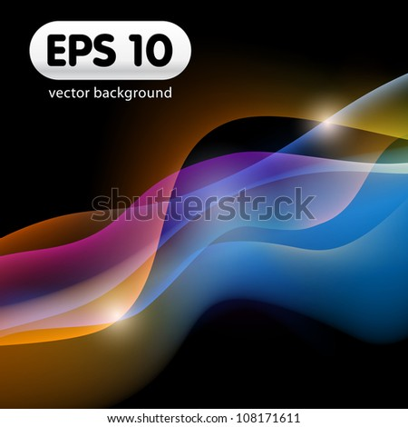 Abstract Vector Wave: eps10 vector background - stock vector