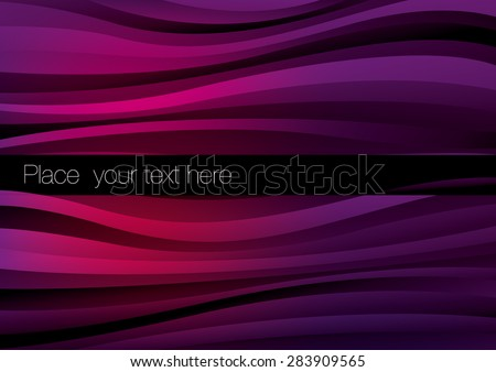 Abstract vector waves background - stock vector