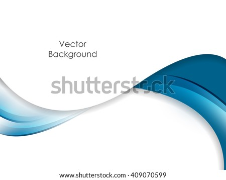 Abstract vector , wavy lines for brochure, website, flyer design. Blue wavy lines over white background for your  designs. Eps10 - stock vector