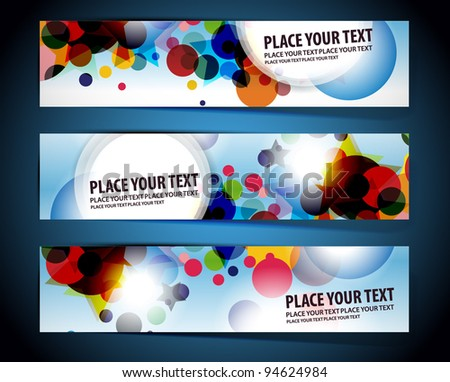 abstract vector web header/banner design element - stock vector