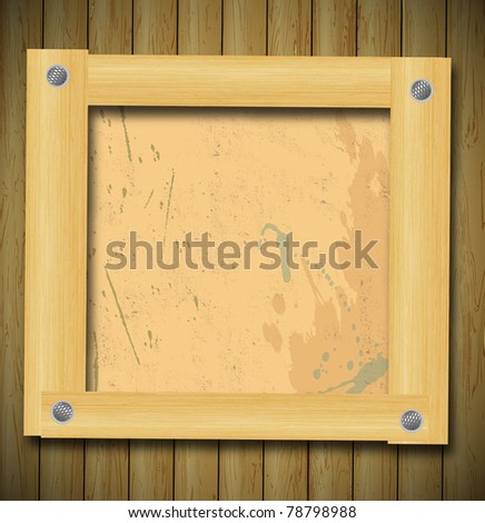 abstract vector wood background eps 10 - stock vector
