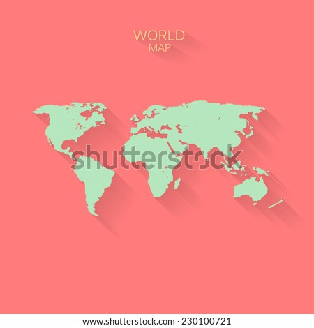 Simplified world map stock images royalty free images vectors abstract vector world map background with flat design gumiabroncs Choice Image