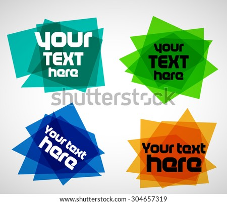 Abstract vectors banners - stock vector