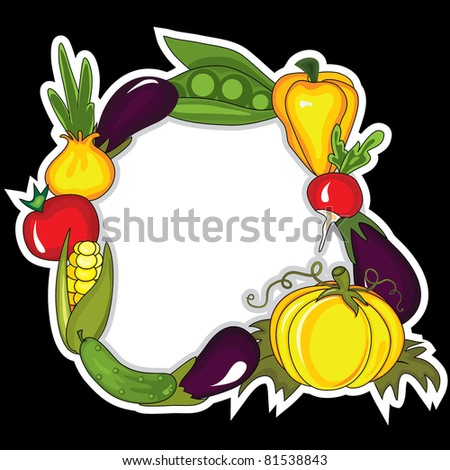 Abstract vegetables background.  Place for your text - stock vector