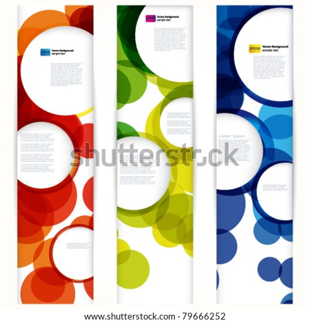 Abstract vertical banner with forms of empty frames for your www design. - stock vector