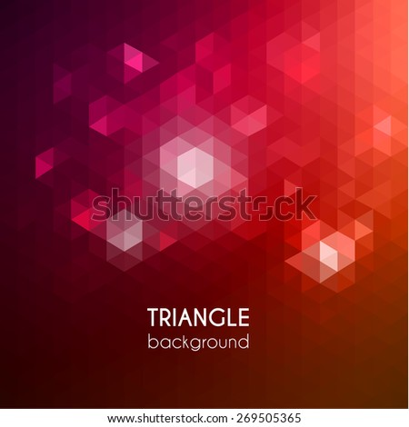 Abstract vibrant triangular background - eps10 - stock vector
