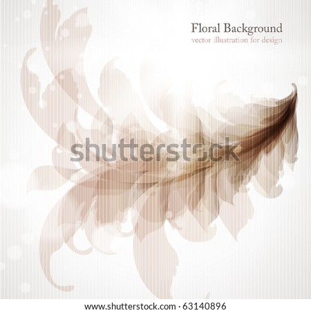 Abstract vintage background for design with leafs and flowers. Retro eps 10 - stock vector