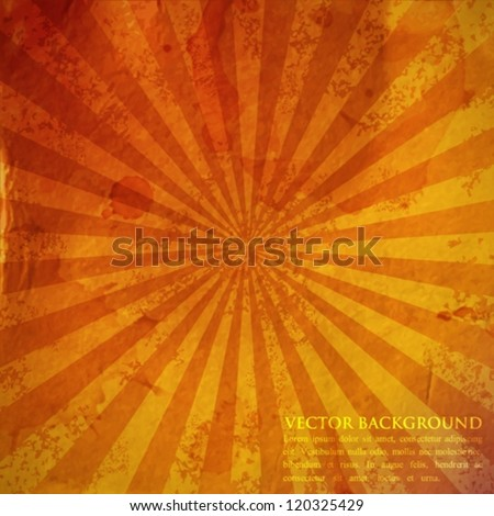 abstract vintage background with grunge cardboard texture - stock vector