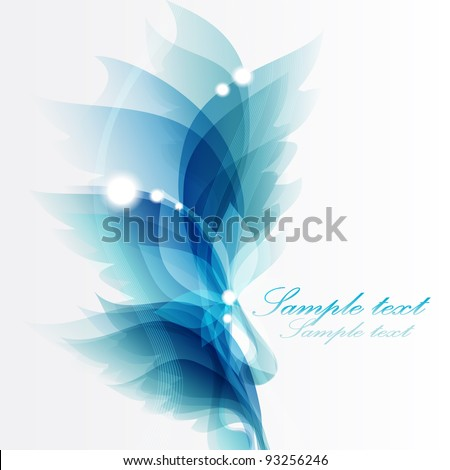 Abstract vintage blue background for design - stock vector