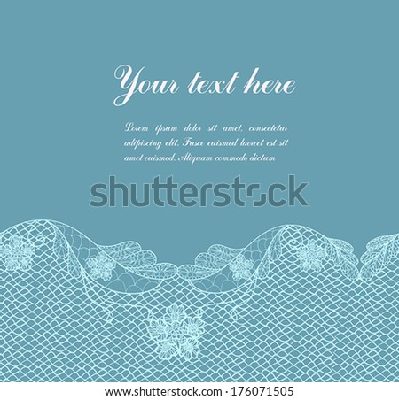 abstract vintage blue lacy background with place for your text