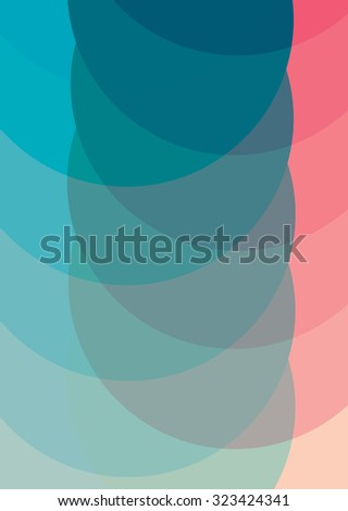 Abstract vintage colorful circles background. Vector illustration - stock vector