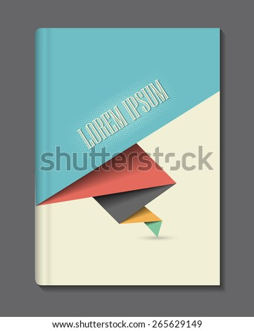 Abstract, vintage design cover for book/brochure/ business reports... Vector eps10. - stock vector