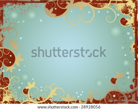 Abstract vintage floral greeting card