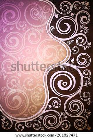 Abstract vintage floral vector illustration. - stock vector