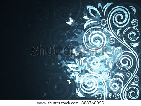 Abstract vintage floral vector illustration.